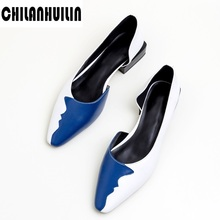 fashion mixed color women high heel shoes cozy square toe dr