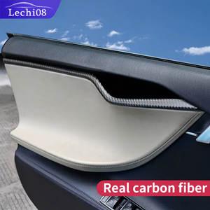 Door-Trim Car-Accessories Tesla Model Interior Carbon-Fiber