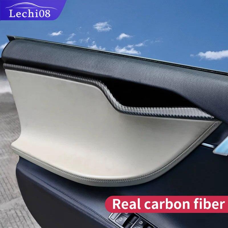 Porta Trim per Auto Tesla Model S Accessori Tesla 2018 Modello S Tesla Accessori Auto Tesla Model S in Fibra di Carbonio interni