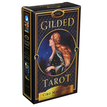 The Gilded Tarot Deck Set teeming with shimmering, classical imagery High priestesses in flowing robes, wise emperors imagery