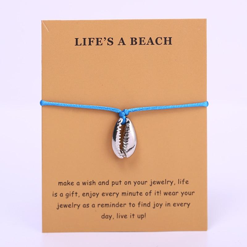Conch Shells Ocean Wave Adjustable Bracelets Octopus Mermaid Beach Women Men Unisex Fashion Jewelry Summer Gift Drop Shipping