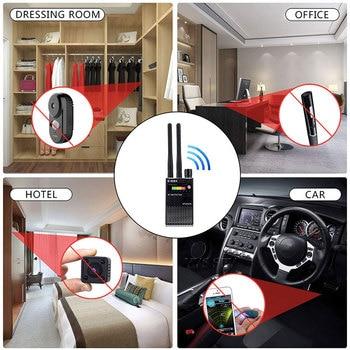 Dual Antenna RF Signal Anti Spy Hidden Camera Anti Candid Camera Detector Eavesdropping Pinhole Audio Bug GPS GSM Device Finder 6