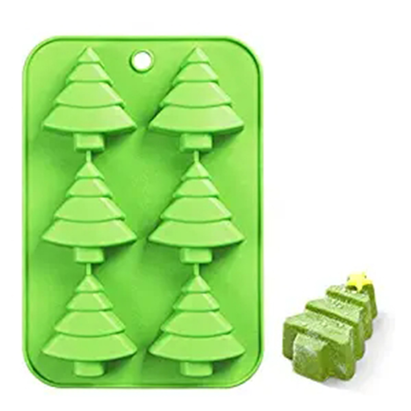 Christmas Tree Silicone Cake Baking Mold Cake Pan Handmade Soap Moulds Biscuit Chocolate Ice Cube Tray DIY Mold