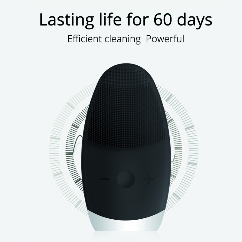 Electric Silicone Facial Cleansing Brush Sonic Vibration Massage USB Rechargeable Smart Ultrasonic Face Cleaner Beauty Tool in Face Skin Care Tools from Beauty Health