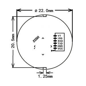 Image 5 - R502 Red Bule LED Round Semiconductor Fingerprint Module/Sensor/Scanner