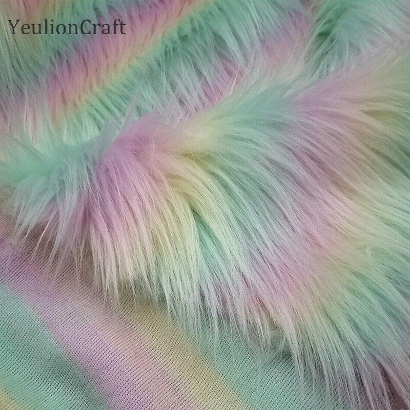 Мягкая плюшевая ткань из искусственного меха, 50x160 см