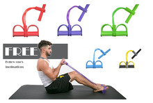 4 Tube Expander Elastic Resistance Bands Latex Sit Up Training Pull Rope Yoga Fitness Equipment Pilates Workout Exercise Bands new hydraulic lever up tube expander ct 100a