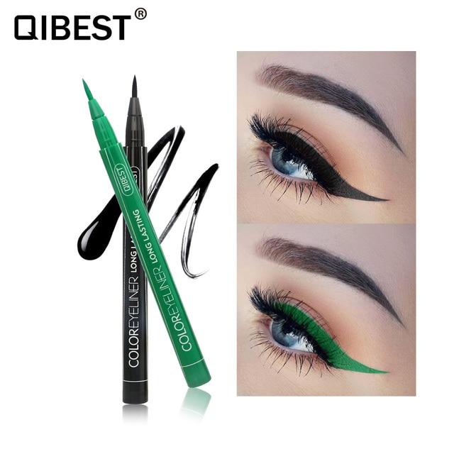 Colorful Eyeliner Pen Eyes Makeup Orange Waterproof Blue Green Eye Liner Make up Cosmetics Long-lasting Smooth Eyeliners Pencil 2