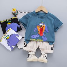 Baby Boy Outfits Clothes Summer Sets 2021 Cartoon 1 2 3 4 Years Kids Cotton T-shit + Short Pants Children Clohing