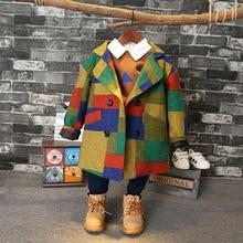Коллекция года, Осенняя детская куртка в стиле пэчворк модная куртка с длинными рукавами для мальчиков, Высококачественная ветровка для мальчиков