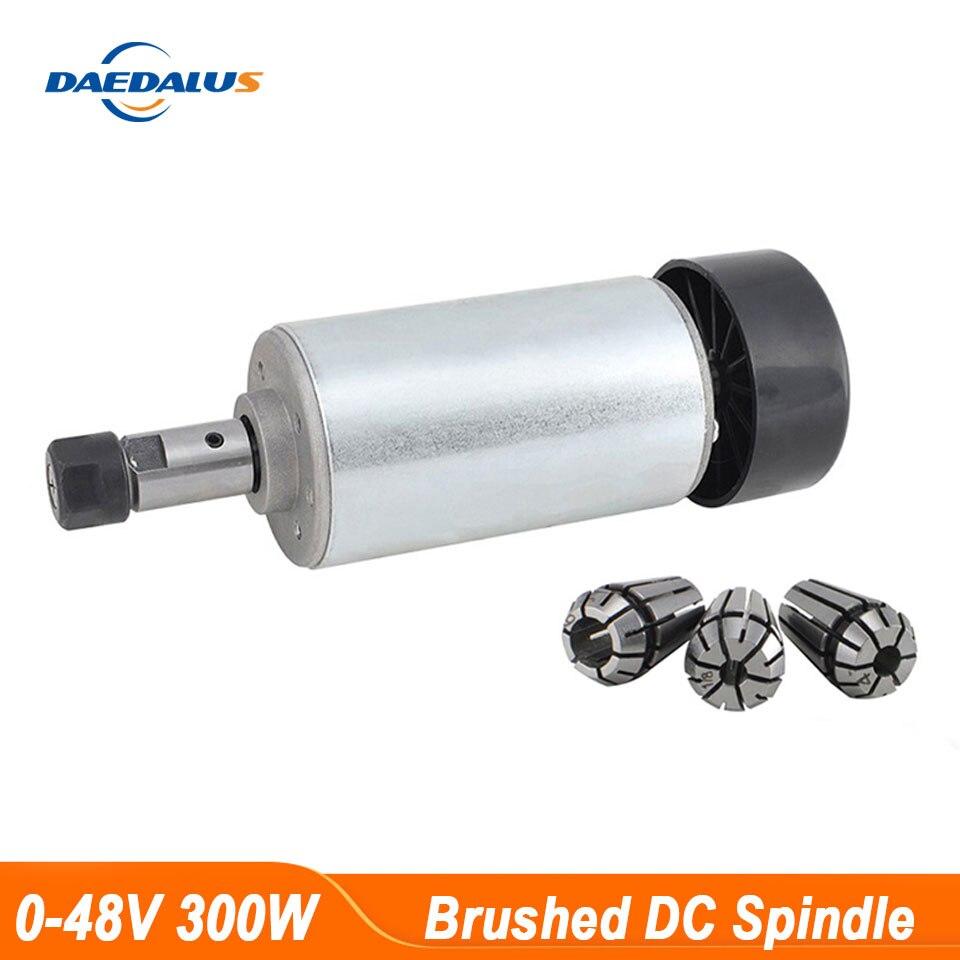 300W CNC Шпиндельный двигатель, воздушный охлаждающий двигатель ER11, зажимы 52 мм для фрезерного станка с ЧПУ