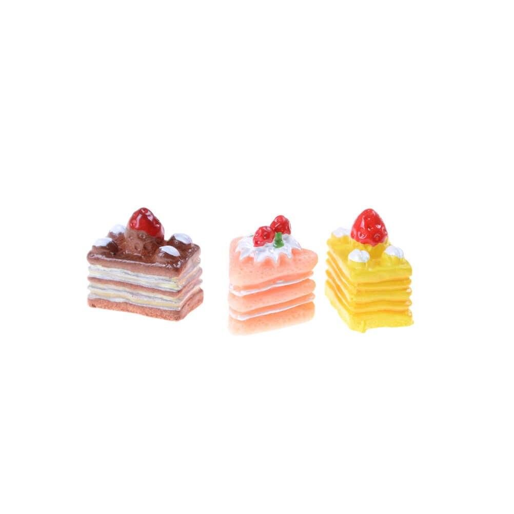 5 قطعة الاصطناعي مخبز كعكة الخبز الغذاء الفاكهة الموز دمية المطبخ لعبة الحرفية embelliبها بنفسك الزينة اكسسوارات مصغرة وهمية