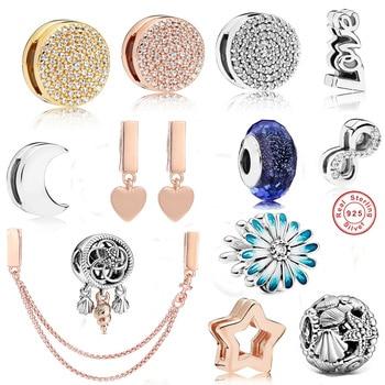 цена 925 Sterling Silver Floating Locket Charms for Original Refle Bracelet Earrings Necklace Diy Jewelry Gift онлайн в 2017 году