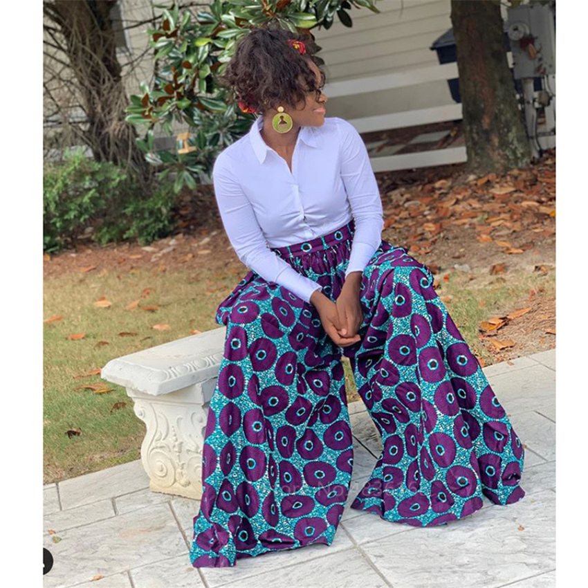 @Queen African Top + Trousers plus size 2