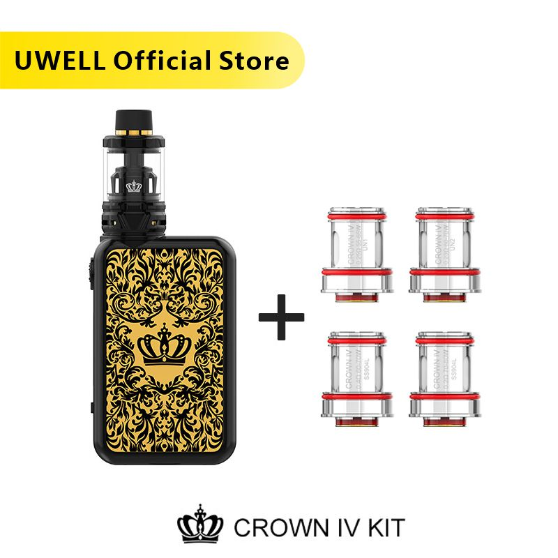 UWELL Crown 4 Kit & Coil Set 5ml Crown 4 Tank 5 200W Crown Box Mod Crown IV Kit электронная сигарета испаритель