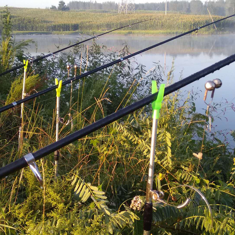New Style Sea Fishing Rod Bell Alarm Long Shot Rod Fish Bite Alarm Double Bell Electronic Fishing Bells Bracket Set|Floodlights| |  - title=