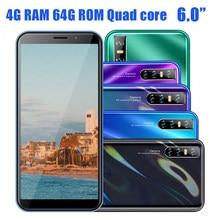Smartphone con pantalla HD de 6,0 pulgadas, 4 GB de RAM y 64 GB de ROM, cámara de 8A y 13MP, identificación facial, versión Global, quad core, android