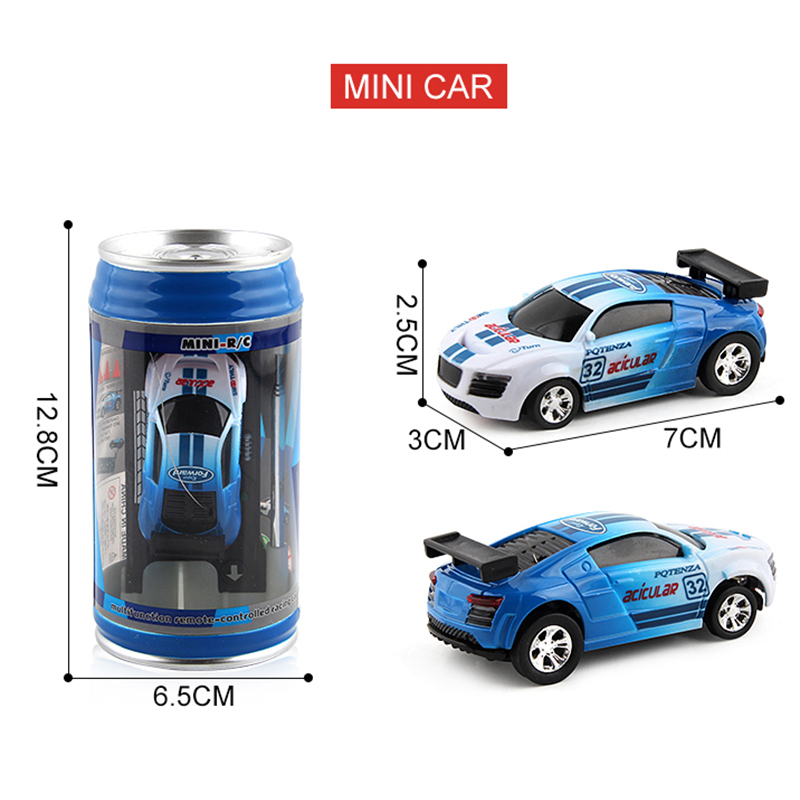 RC Cars Toy Creative Coke Can Mini Collection Radio Controlled Cars Machines On The Remote Control  For Boys Kids Christmas Gift 3