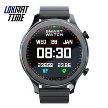 Lokmat tempo moda relógio inteligente bluetooth chamadas rastreador de fitness relógios inteligentes das mulheres dos homens monitor de freqüência cardíaca para android ios