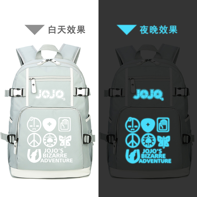 JoJo's Bizarre Adventure Women Pink Backpack Waterproof Travel Bagpack Anime Bookbag Kujo Jotaro School Bags for Teenage Girls 4