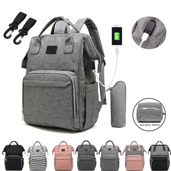 diaper bag handbags for moms multi function wetbag travel backpack large capacity with insulted pocket handbag nappy bags tote Top Quality Large Capacity Baby Nappy Backpack Bag With USB Multi-function Waterproof Travel Diaper Bags Baby Care Mummy Bag