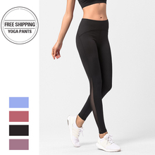 2019 New Style Fashion Hot Women High Waist Yoga Gym Pants Fitness Sport Patchwork Jogging Leggings