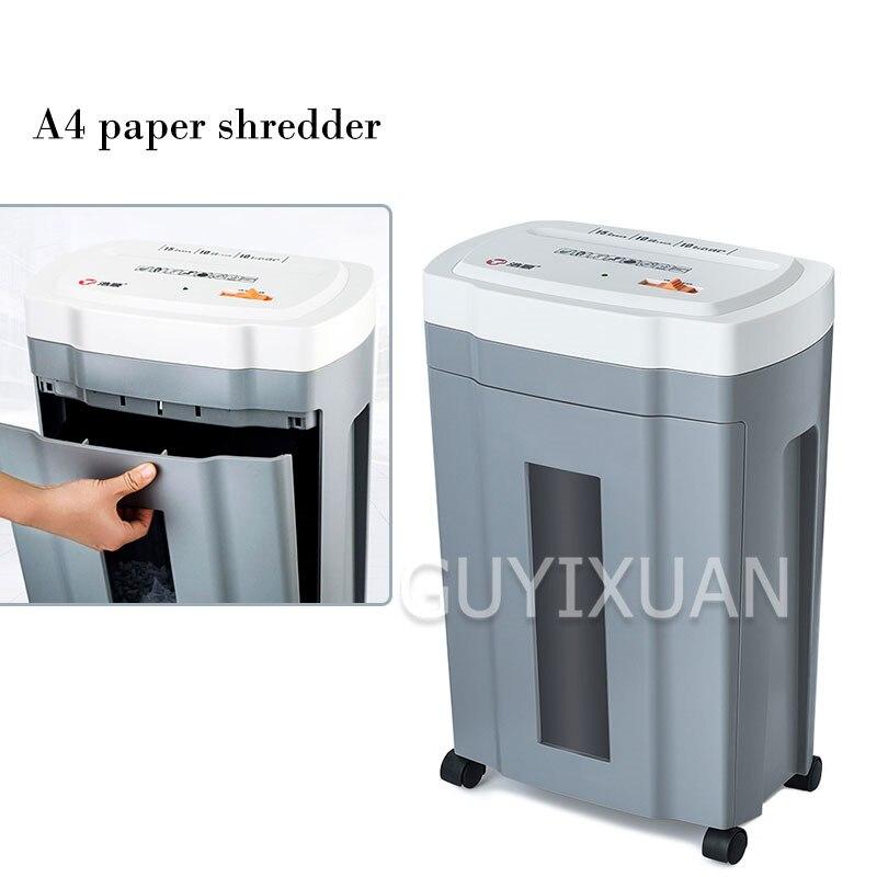Haute puissance bureau papier déchiqueteuse Document déchets papier carte de membre automatique déchiqueteuse entreprise équipement de bureau