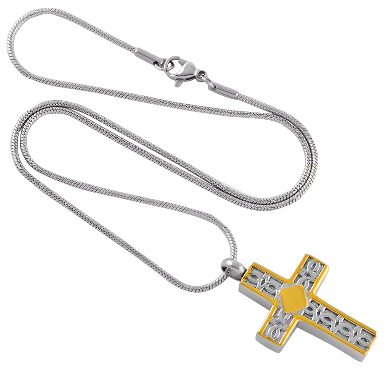 IJD9220-Silver-And-Gold-Stainless-Steel-Cross-Memorial-Urn-Necklace-Hold-Human-Pet-Ashes-Keepsake-Cremation. (2)