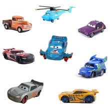 38 estilo Disney Pixar coches 3 nuevo Rayo McQueen Jackson tormenta Smokey Diecast Metal de juguete de modelo de coche para niños navidad regalo