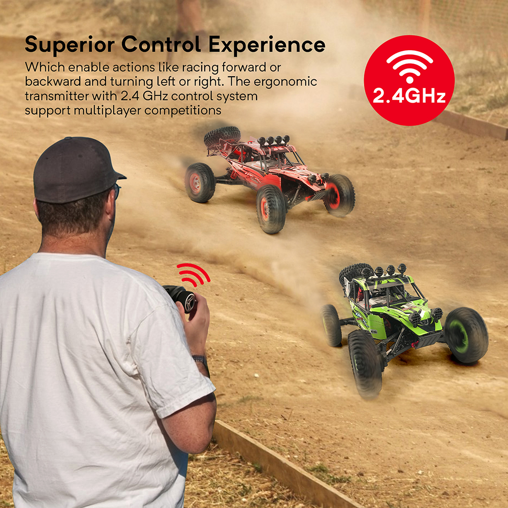 Image 5 - RC Car 4WD 1/12 2.4G 48km/h High Speed Updated Version RTR Rc truck Radio Control Buggy Off Road vehicle Electric Toy Xmas Gifts-in RC Cars from Toys & Hobbies