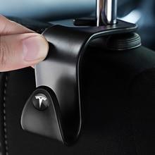 Rack-Accessories Hanging-Bag Tesla-Model for 3-model/S-model/X Back-Hooks Car-Seat A-Pair