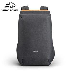 Kingsons новый рюкзак подходит для ноутбука 15 дюймов Mochila мужской Противоугонный водонепроницаемый рюкзак подростковый Большой Вместительный ...