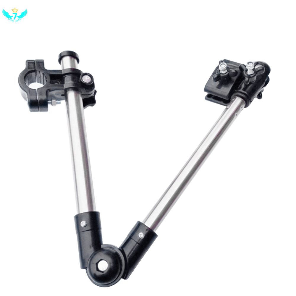 Wheelchair Bicycle Pram Swivel Umbrella Connector Stroller Holder Any Angle Stainless Steel Umbrella Holder Rain Gear Tool HTML
