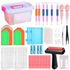 Diamond Painting Tools,5D Diamond Painting Accessories Kits Diamond Cross Stitch Tool Sets Diamond Embroidery Box for DIY Craft