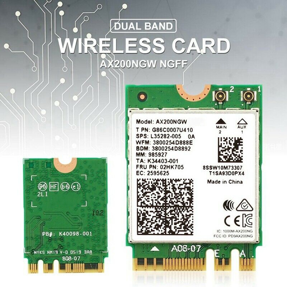 2.4Gbps AX200NGW Adapter WIFI Antenna Dual Band Wireless Card Internal Network Accessories Stable Bluetooth 5.0 WLAN High Speed