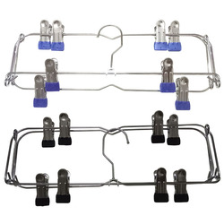 Multi-functional Metal ku jia zi New Style Creative Clothes Rack Factory Direct Simple Storage Skirt Clip