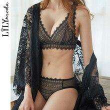 LILYMODA ผู้หญิงสบายลูกไม้เซ็กซี่ Bralette Bra Brassiere ชุดเต็มรูปแบบถ้วยชุดชั้นในหญิงชุดชั้นในสินค้าใหม่ 2018 แฟชั่น