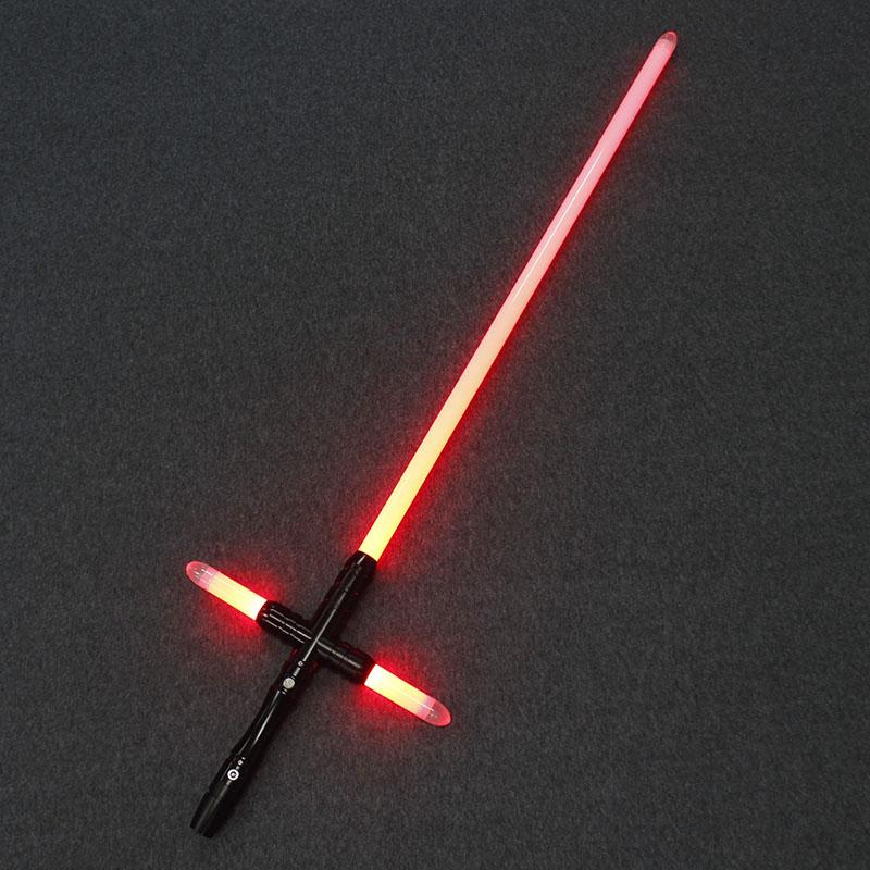 Lightsaber YDD Metal Hilt Small Cross Light Saber Force FX Heavy Dueling LED Lightsaber With FOC Lock Up Luminous Toys