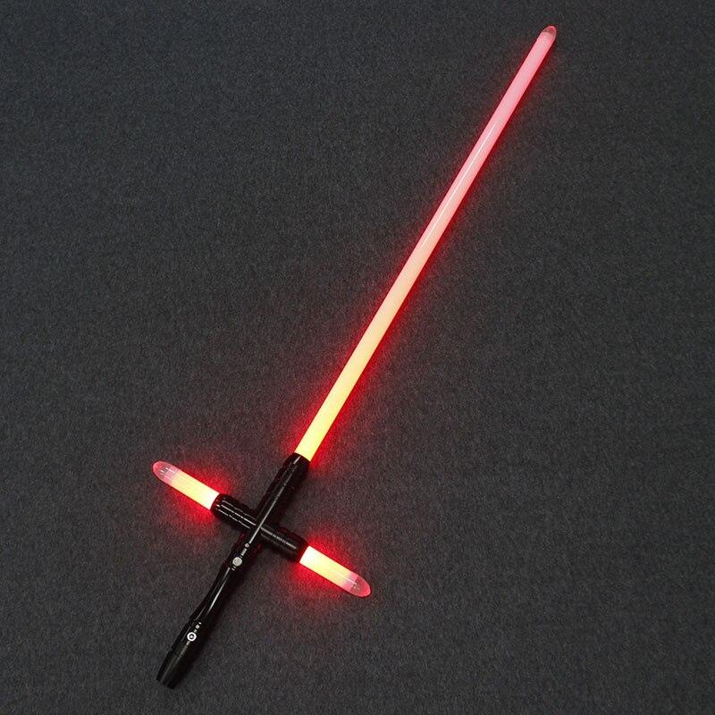 Sabre de luz led com foc trava acima brinquedos luminosos o sabre de luz do diodo emissor de luz