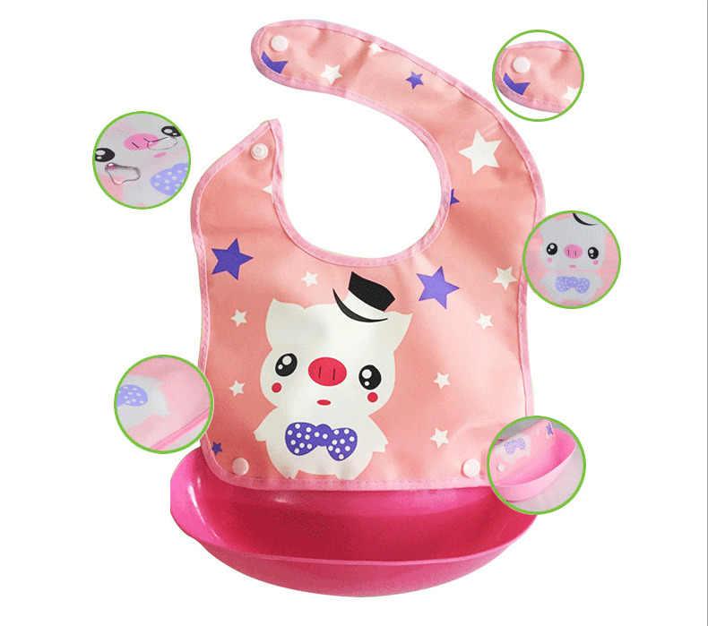 2019 accesorios para bebés Baberos Burp Cloths ropa nueva impermeable de silicona bebé babero lavable Roll Up Crumb Catcher alimentación