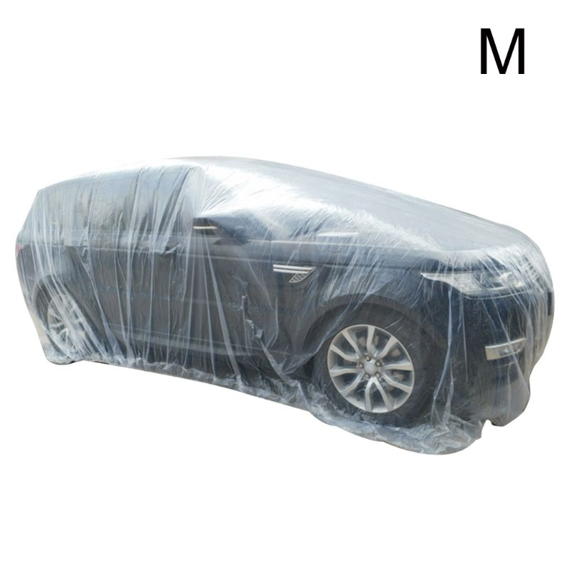 Portable Disposable Transparent Waterproof Car Cover Dustproof Foldable Environmental Protection PE Plastic Film Covers