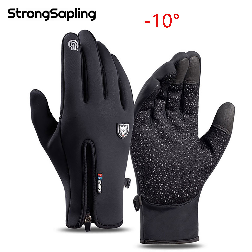 Winter Cycling Gloves Warm Waterproof Non-Slip Cold-proof Windproof Touchscreen Men Women Ski Fishing Scooter Breathable Gloves