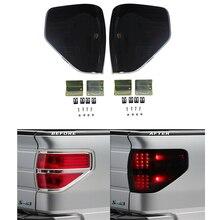 مجموعة مصابيح خلفية LED لفورد ، زوج جديد من مصابيح التحذير الخلفية ، مصباح التوقف الخلفي لفورد F150 2009 2014