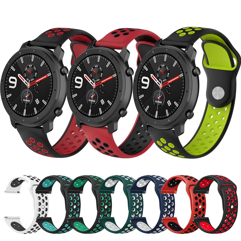 Sports Silicone Wrist Replacement Strap For Xiaomi Huami Amazfit GTR 47 42mm Bracelet Band For Huami Amazfit GTS Watch Watchband