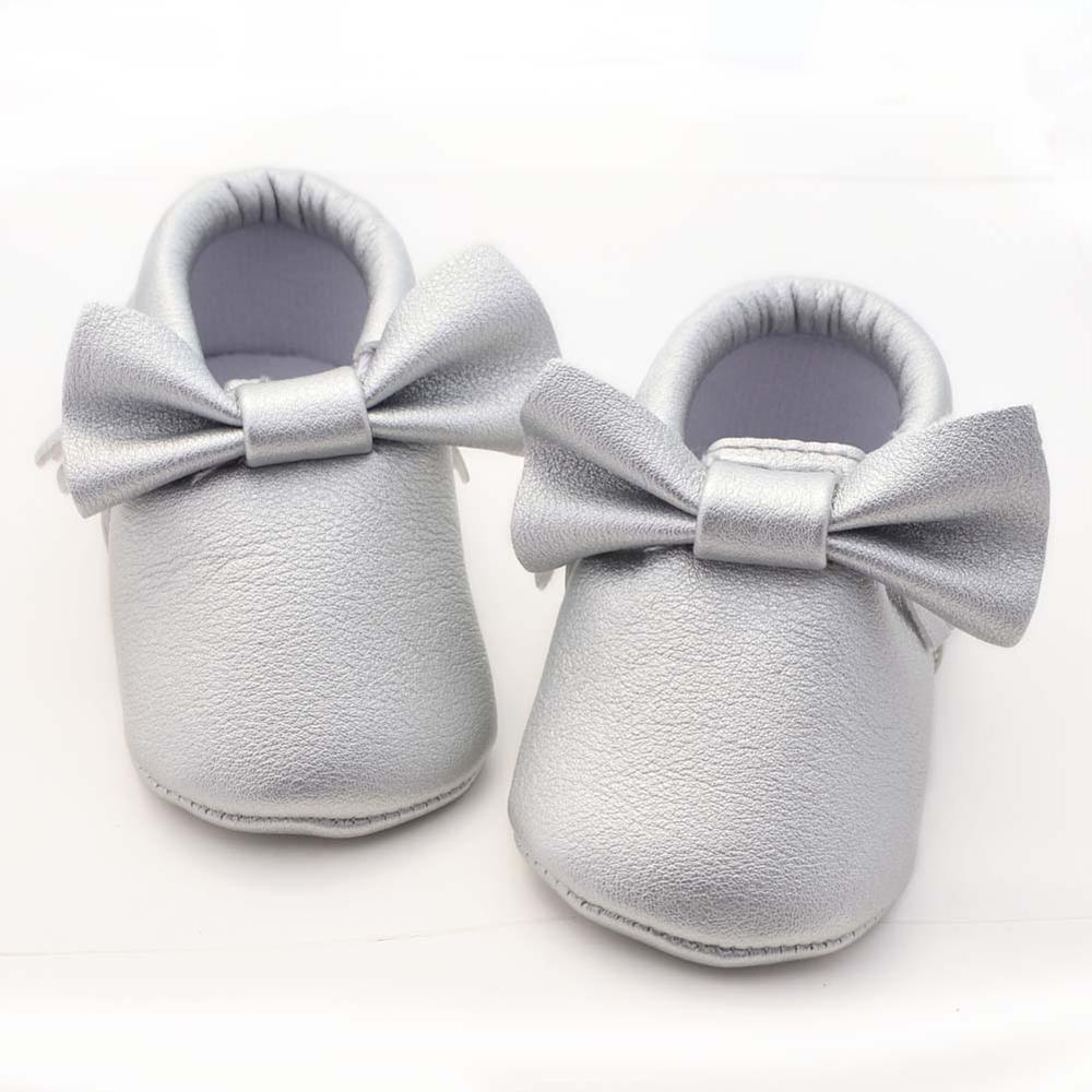 Baby Shoes Toddler Shoes PU Bowknot Tassel