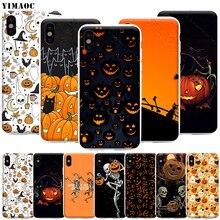 YIMAOC Black Cats Jack Halloween Phone Case for iPh