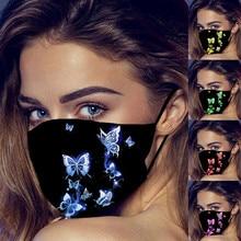 Маска для лица для вечеринки, косплея, маска на Хэллоуин, 1 шт., рты для «защиты», моющаяся многоразовая моющаяся маска для лица с петлями для ...