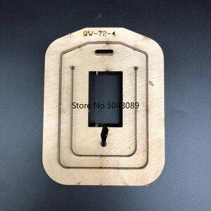 Image 5 - Japão lâmina de aço dados de couro molde documento leathercraft aleta bagagem tag oco perfurador molde diy mão ferramentas de couro dados corte