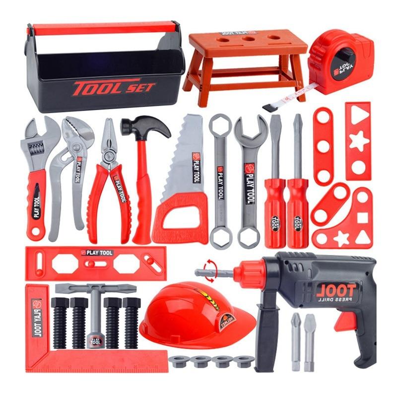 Детские развивающие игрушки, инструменты для моделирования, инструменты для ремонта, игрушки, дрель, пластиковая игра, обучающий
