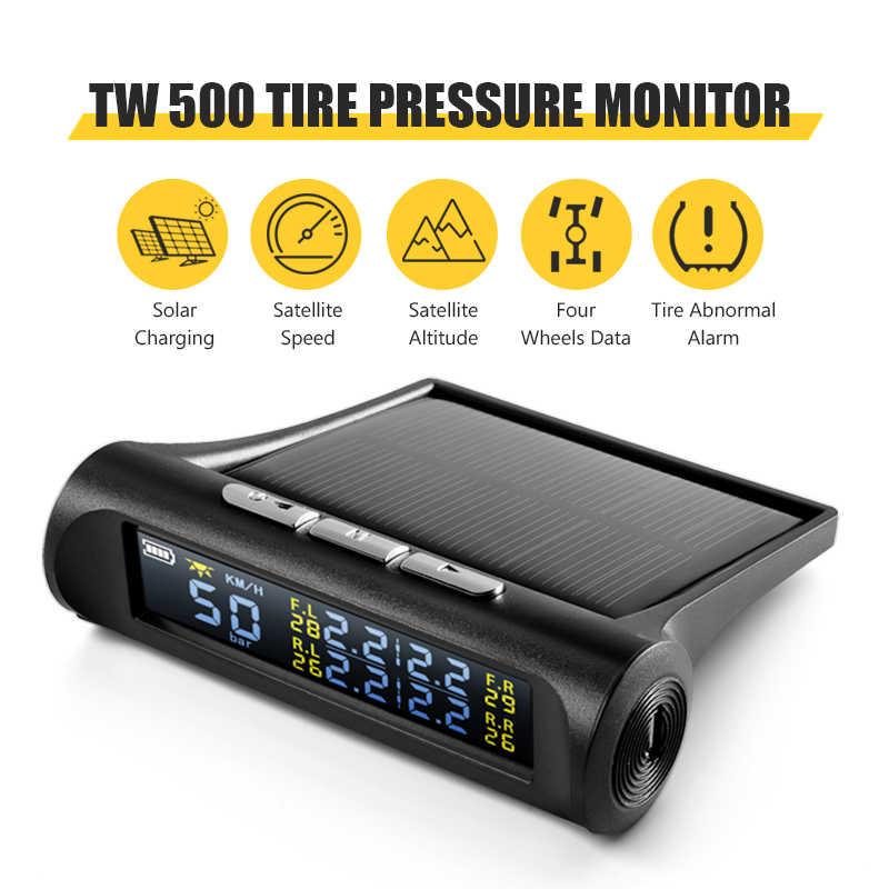 범용 GPS 속도계 자동 타이어 압력 센서 Tpms 온보드 컴퓨터 Hud 2 in 1 헤드 업 디스플레이 태양 에너지 자동차 전자